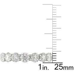 18k White Gold 5ct TDW Diamond Full Eternity Ring (G H, I1 I2