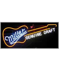 Miller Genuine Draft Guitar Neon Bar Sign