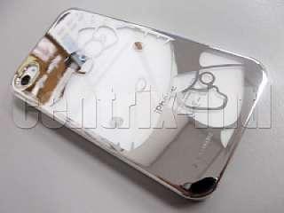Hello Kitty Silver Chrome Hard Plastic Case for iPhone 4 & 4S