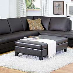 By cast Leather Flip top Storage Bench/ Ottoman