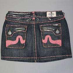 Laguna Beach Womens Sunset Beach Indigo Denim Mini Skirt