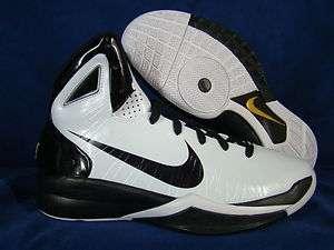 NIKE HYPERDUNK 2010 WHITE BLACK MEN BASKETBALL SHOES NEW 2011