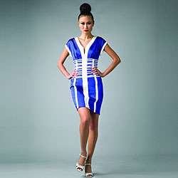 Issue New York Womens Blue/White Geometric Dress