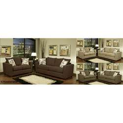 Alexa 2 piece Chenille Fabric Sofa and Loveseat Set  Overstock