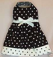 New White/ Black Polka Dot Dog clothes dress small