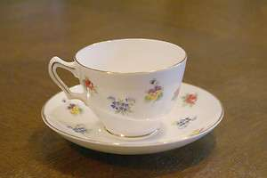 Fine Bone China Cup & and Saucer Plate Dish Dishes Set Tea