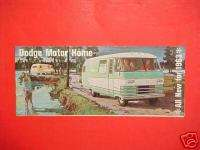 1963 DODGE MOTORHOME BROCHURE CATALOG MANUAL BOOK 63