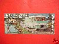 1963 DODGE MOTORHOME BROCHURE CATALOG MANUAL BOOK 63