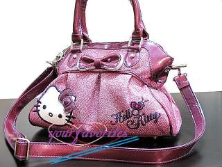 Hello Kitty shiny purple tote bag shoulder handbag purse