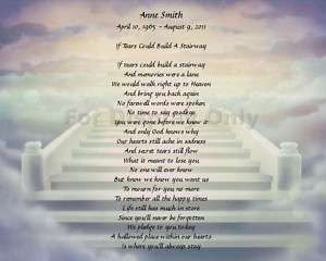 Personalized Memorial If Tears Could Build A Stairway