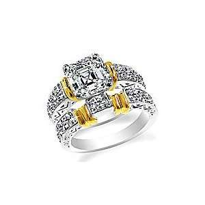 Design Your Own Matching Wedding Set Two tone Gold Ring Setting and
