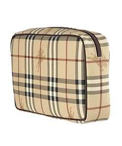 Burberry Haymarket Plaid Toiletry Bag
