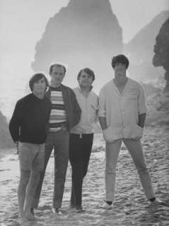 Beach Boys, Posing on Beach Premium Photographic Print by Bill Ray at