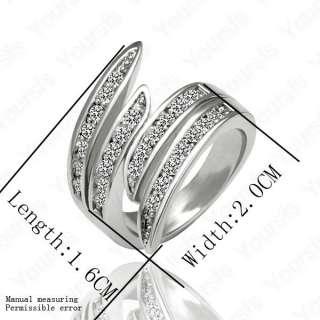 Gold Plated Jewelry 18K GP Noble Dazzling Swarovski Crystal Charm Ring