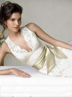 White Lace Layer Bridal Wedding Gown Ball Evening dress