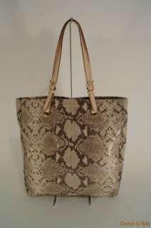 Michael Kors Jet Set Python Embossed Leather N/S Tote Handbag