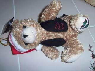 HARLEY DAVIDSON Plush Santa christmas Bear ORNAMENT NWT