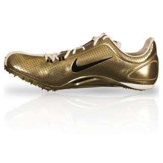 ZOOM JA Powercat Track Running Spike Cleats Shoes gold chrome NEW