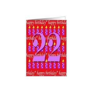 22 Years Old Lit Candle Happy Birthday Card Toys & Games