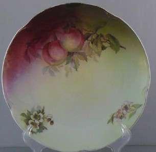 Antique Porcelain Plate Victorian Art Nouveau Fruit Bavarian JC
