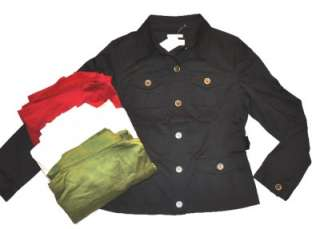 JONES NEW YORK SPORT Jacket stretch black ivory S 2XL