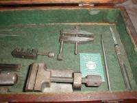 Antique Wooden Machinist Toolbox CHEST Complete With Antique MACHINIST
