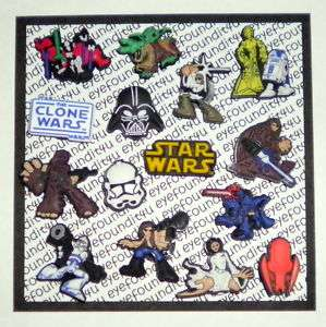 STAR WARS COMPLETE SET 15 SHOE CHARMS, GIFT PARTY FAVOR