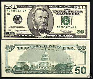 UNITED STATES USA $50 P502 1996 GRANT CAPITAL UNC NOTE
