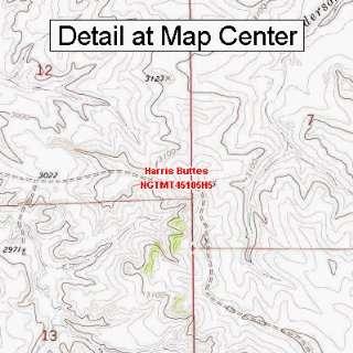 USGS Topographic Quadrangle Map   Harris Buttes, Montana