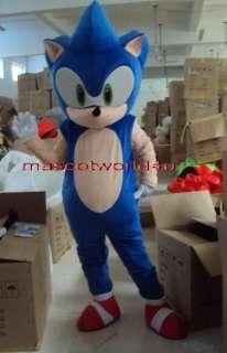 Professional Sonic Hedgehog Mascot Costume Adult Size