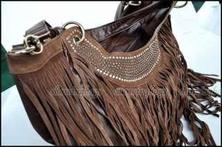 E5782 New pu leather womens tassel bag shoulder handbag Fringe Tote