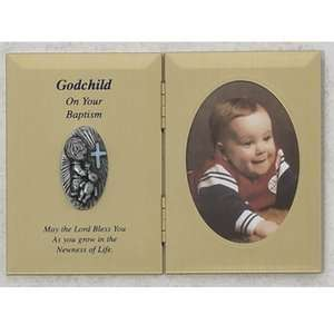 Double Godchild Boy Baptism Plaque Picture Frame Gift N: Baby