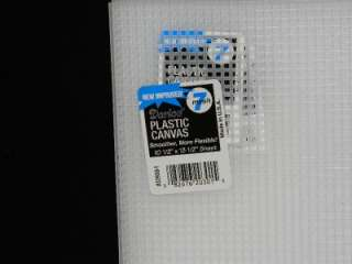 NEW Darice Plastic Canvas 25 Sheets Lot 7 Mesh White Clear