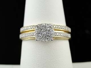 LADIES WOMENS ROUND CUT DIAMOND WEDDING ENGAGEMENT BRIDAL RING