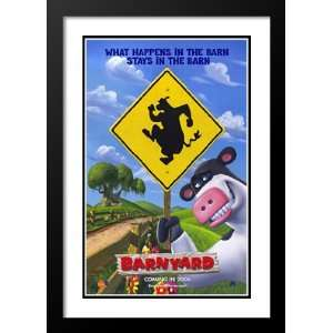 Barnyard 20x26 Framed and Double Matted Movie Poster   Style A   2006
