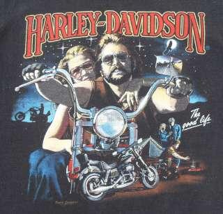 VTG 80S HARLEY DAVIDSON 3D EMBLEM MOTORCYCLE BIKER SLEEVELESS MUSCLE T