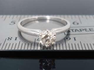 SI2 .54 ct Round Diamond Engagement wedding 14kt White Gold Ring 1/2