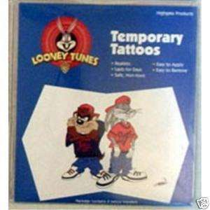 Looney Tunes Taz & Bugs Bunny ~ Temporary Tattoos