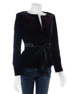 Adrianna Papell Womens Velvet Jacket
