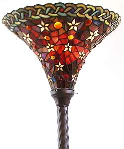 Tiffany style Vintage Star Torchiere Lamp