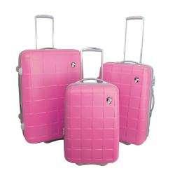 Heys USA Cubis 3 piece Neon Luggage Set