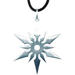 Stainless Steel Ninja Star Necklace