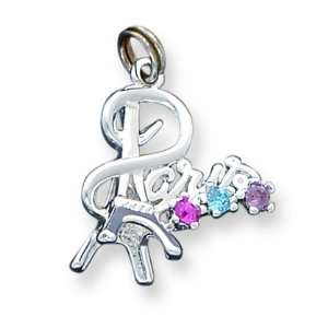 Sterling Silver Paris Multi Color Crystal Charm Jewelry