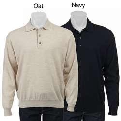 Belford Mens Merino Wool Polo Sweater