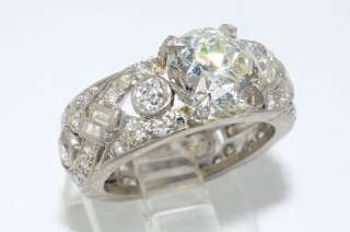 133750 5.22CT ANTIQUE ART DECO EUROPEAN CUT DIAMOND ENGAGEMENT RING