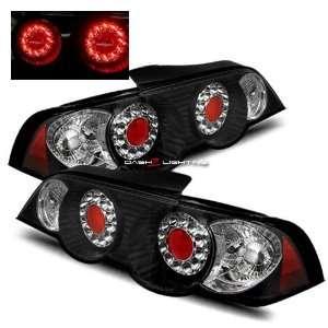 02 04 Acura RSX LED Tail Lights   Black Automotive