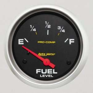 Pro Comp 2 5/8 0 E/ 90 F Short Sweep Electric Fuel Level Gauge for GM