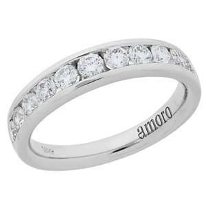 1.01 Carat 18kt White Gold Diamond Anniversary Ring