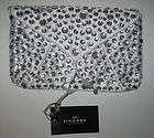 ANTHROPOLOGIE WHITE CRYSTAL BRIDAL WEDDING PROM CLUTCH PURSE BAG