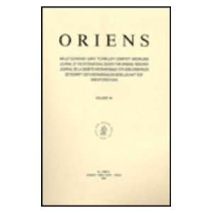 International Society for Oriental Research 1994 (Oriens